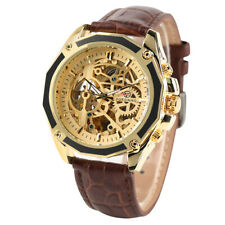 FORSINING Army Men's Automatic Mechanical Wrist Watch Leather Band