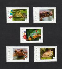 FROGS = REPTILES = set of 5 Picture Postage stamps MNH Canada 2016 [p16/01-2fr5]