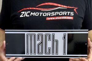 """2021 MUSTANG MACH 1 Logo Garage Metal Sign Wall Art 15"""" x 5"""""""