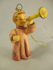 Goebel Hummel Signed Angel Playing Horn 1999 ~ No Box