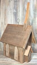 """Vtg '91 Bowen Bird Houses """"Rustic Chapel� 15� Crafted Reclaimed Barn Wood Signed"""