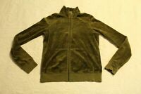 Juicy Couture Women's Full Zip Velour Track Jacket MW7 Olive Large