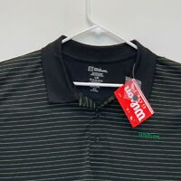 Wilson Mens Striped Golf Polo Black XL NWT