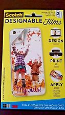 *Scotch iPhone 5/5S Designable Films Cutomize Your Phone Case! 2 Pack!