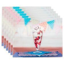 Glass Worktop Saver Non-Slip Kitchen Chopping Board - Sundae - 500 x 400mm x6