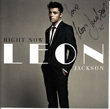 LEON JACKSON Right Now 2008 UK 13-track SIGNED / AUTOGRAPHED CD + CoA