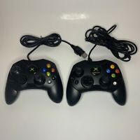 Xbox Original Controllers Lot Of 2 Microsoft And Knockoff Brand Untested