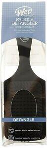 Wet Brush Pro Black Paddle Detangler Professional IntelliFlex Bristles Aqua Vent