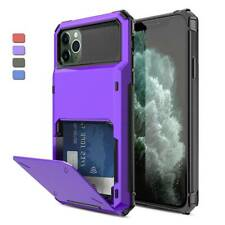 For iPhone 12 Pro Max/11/XS Max/X Shockproof Case With Wallet Credit Card Holder