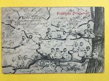 cpa Postkarte FRÖHLICHE PFINGSTEN Bonne Pentecôte MULTI BÉBÉ Multi baby