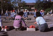 KODACHROME 35mm Slide Asia Japan? Cute School Boys Girls Women Fashion 1970s!!!