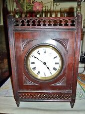 exquisite quality mantel clock arts and crafts fretwork french clock 8 day 1910s