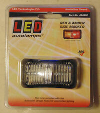 LED Autolamps 42ARM Red / Amber Side Marker Lamp for Car Boat Plant Box Trailer