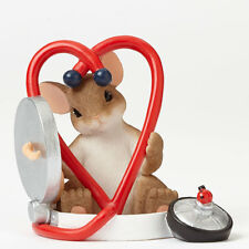 """Charming Tails """"You're Good For My Heart"""" 4042545 Enesco Nib"""