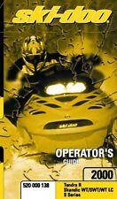 Ski-Doo owners manual book 2000 Tundra R & Skandic WT / SWT / WT LC