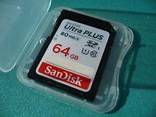Ultra Plus Speed - 64GB 64 GB SDXC SD XC CLASS 10 for SONY ALPHA a6000 ILCE-6000