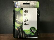 HP 45 BLACK INK CARTRIDGES TWIN PACK OF (2) GENUINE NEW SEALED Expired 2014