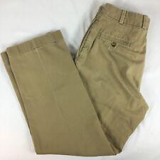 BILLS KHAKIS M2 Flat Front Pants 32x31 Made In USA Tan / Light Brown