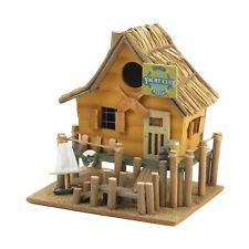 Beach Club Decorative Straw Roof Wood Birdhouse Yacht Boat Ocean Nautical 32188