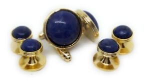 SODALITE CUFFLINKS AND TUXEDO STUDS MANUFACTURERS DIRECT PRICING