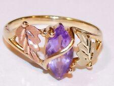 Black Hill Gold 10 kt 12 kt Marquise Amethyst Ring South Dakota Gold Size 6