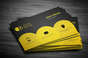 Business Cards Printed Full Colour Single or Double Sided - Custom Design