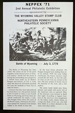Souvenir Card: Neppex 71 Wyoming Valley Stamp Club