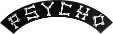 89072 Psycho Black & White Bones Rocker Biker Punk Embroidered Iron On Patch
