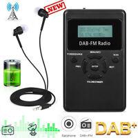 Portable Pocket Personal DAB/DAB+FM Digital Radio Rechargeable Battery Black VHE