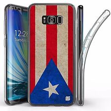 For Samsung Galaxy S8 Plus,Tri Max Transparent Full Body Case Cover PUERTO RICO