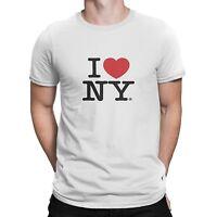 I Love NY White T-Shirt Official Tee New York Screen Printed Heart