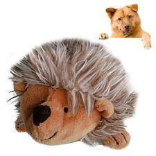 New listing Qu_ Fa- Hk- Pet Dog Puppy Fluffy Hedgehog Shape Plush Doll Molar Bite Chew Inter