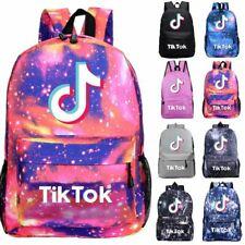 Boys Girls Tik Tok Backpack Galaxy Shoulder Bag Youtube Rucksack Book School Bag