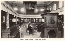 LONDON UK~WESLEY'S CHAPEL~PULPIT & ORGAN~BEDFORD LEMARE PHOTO POSTCARD