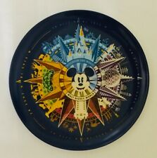 Nib Disney Parks Discover the Magic Four Parks Mickey Mouse Porcelain Plate 7""