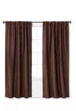 "Eclipse Phoenix Brown Darkening Energy 37""x84"" Curtain Panel Drape Window"