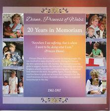 Tanzania 2017 MNH Princess Diana of Wales 20th Memorial 6v M/S II Royalty Stamps
