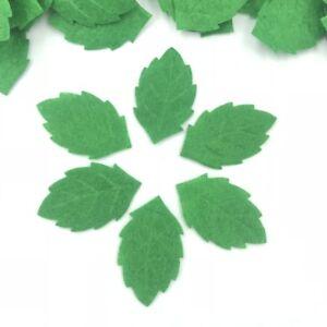 DIY 500pcs Green Leaves-shape Felt Card making decoration Sewing crafts 30mm