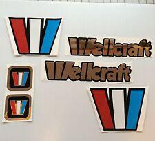 Wellcraft mirror CHROME 6 decal set   Marine Vinyl wellcraft boat decals