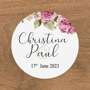 Personalised Wedding Stickers Favour Labels (E-028)