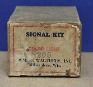 Walthers Crestline 205 O 2 light Bridge Signal Kit Diecast Brass 1938 NIB SEALED