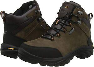 BNIB Regatta Burrell Leather Walking Boots (Peat) UK 9 EU 43 Walking Hiking
