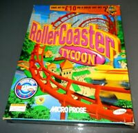 Rollercoaster Tycoon 1999 big box   pc game VGC