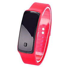 Womens Men Silicone Band Digital LED Bracelet Wristwatch Sports Running Watches