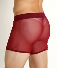 NEW HOT men's Go Softwear grid mesh shorts | small | burgundy | free shipping