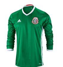 Adidas Team Mexico Soccer Home Green Long Sleeve Goalie Jersey Xl Mens