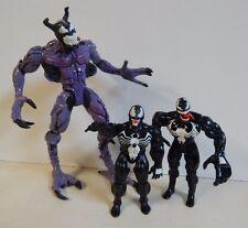 Pre Marvel Marvel Super Heroes Toy Biz lot  of 3 Venom Purple symbiote AS IS