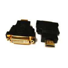 DVI-I Dual Link (24+5 pin) Female to HDMI Male Adapter / Converter / Connector