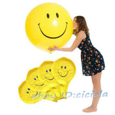 36 Inch Jumbo Yellow Smiley Face Emoji Printed Latex Balloons Party Home Decor
