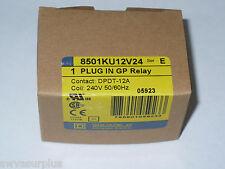 Square D 8501KU12V24 General Purpose Relay, 240 Volt Coil, New